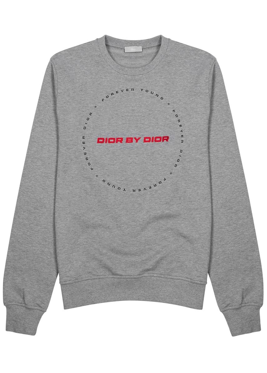 d0b04aff5ce3 Dior by Dior embroidered cotton sweatshirt ...