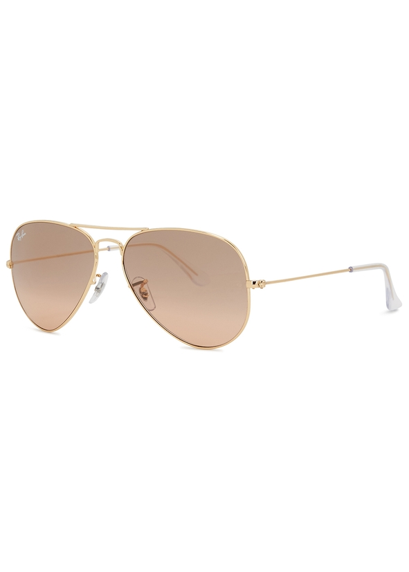 Mirrored aviator-style sunglasses. New Season. Ray-Ban 8bcf57288d