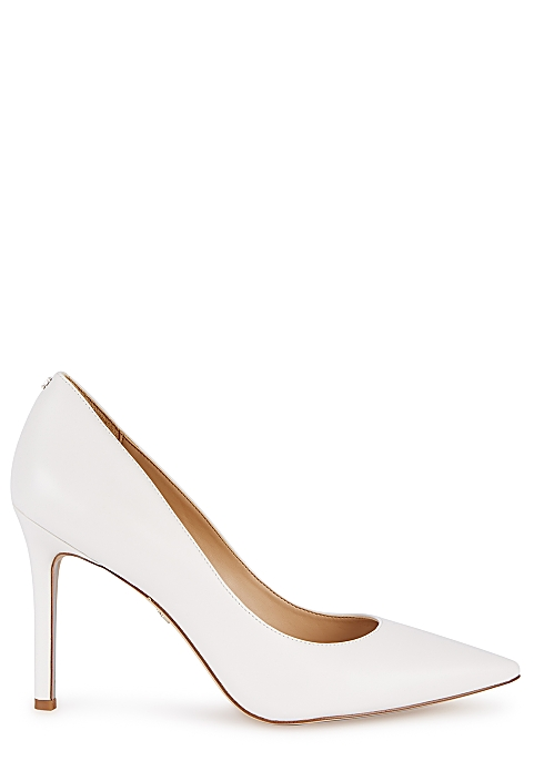 d908d09117 Sam Edelman Hazel 100 white leather pumps - Harvey Nichols