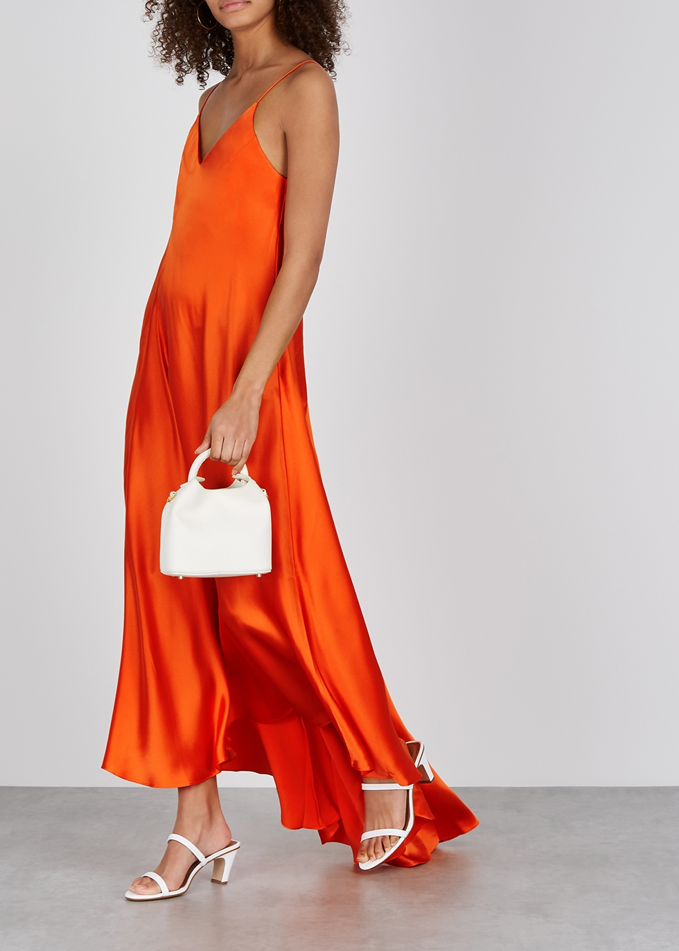 Orange silk maxi dress - Walk of Shame