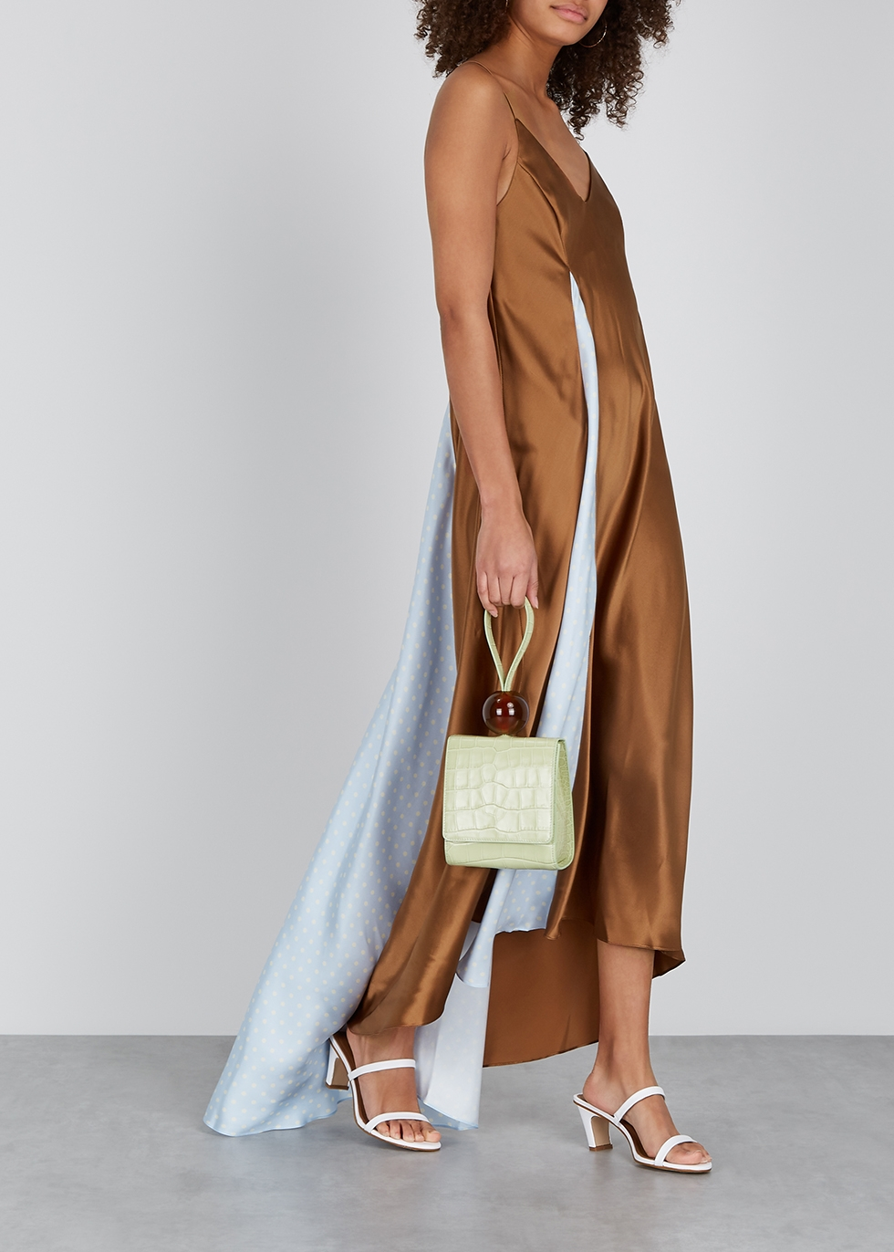 Chocolate brown silk maxi dress - Walk of Shame