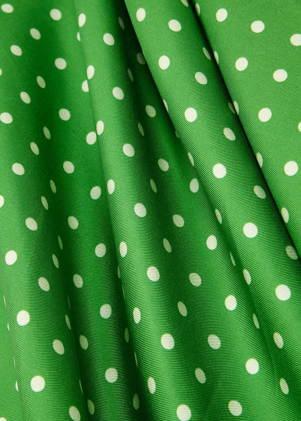 Polka-dot silk slip dress - Walk of Shame