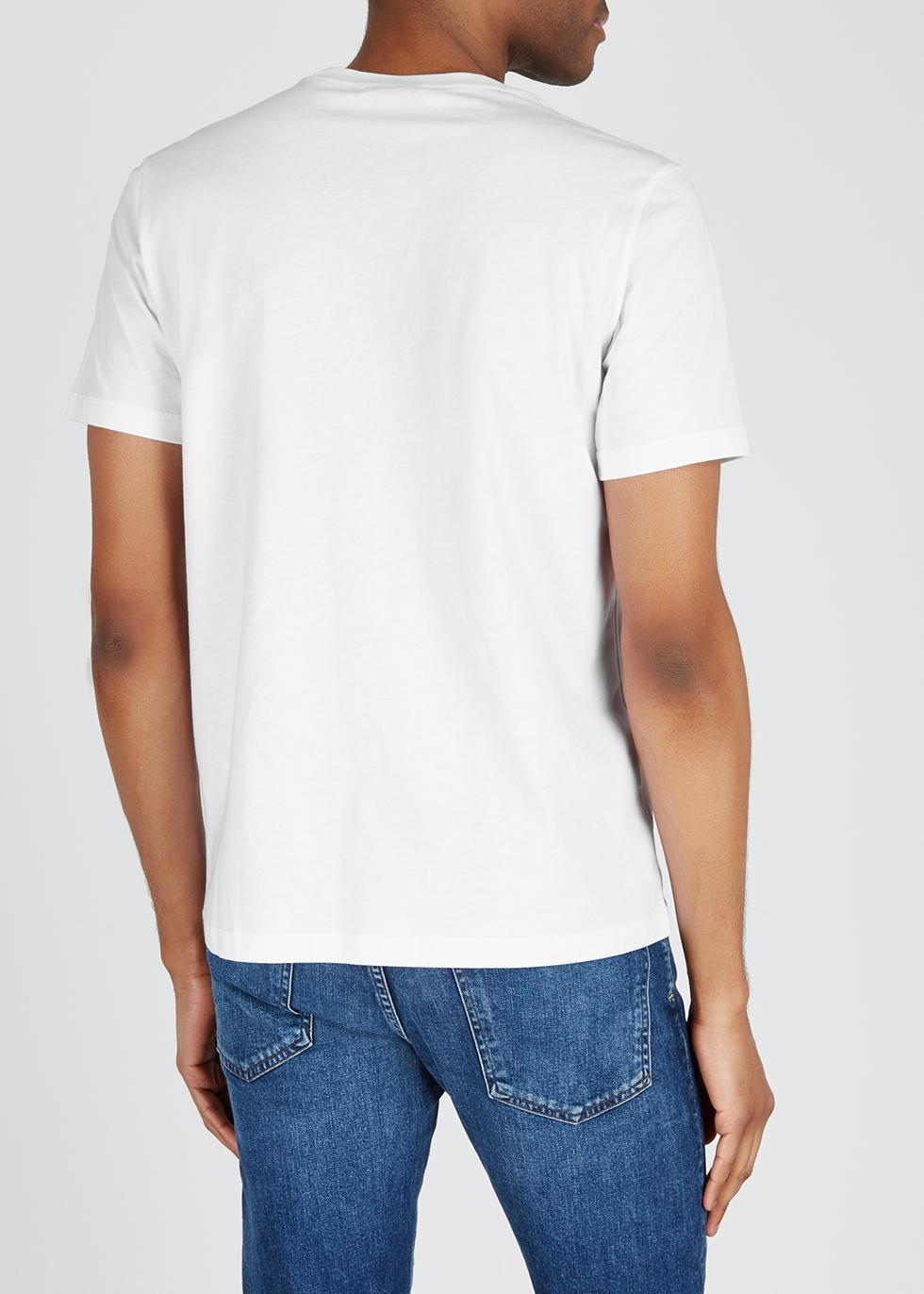 White printed cotton T-shirt - Paul Smith