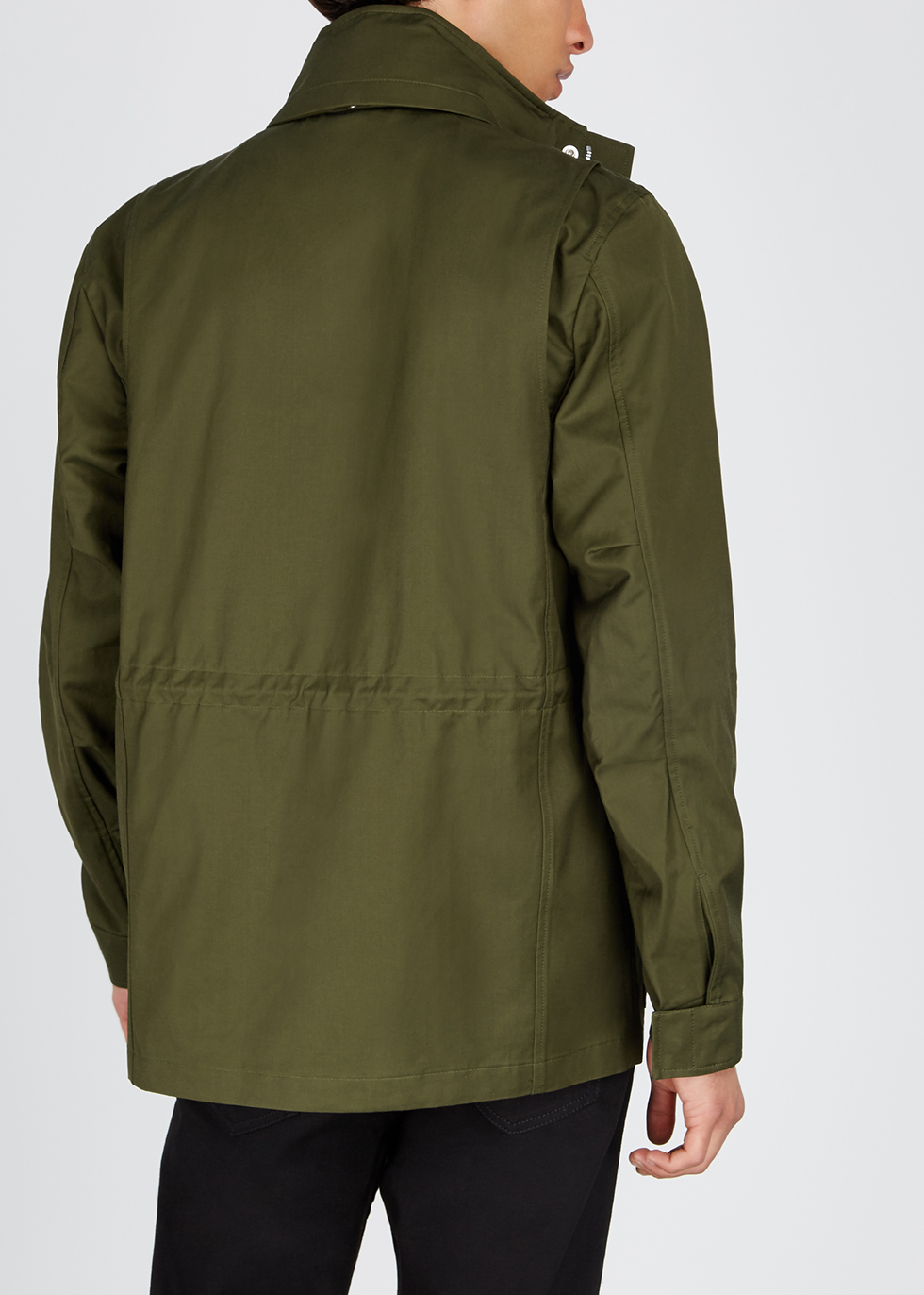 Army green cotton-blend field jacket - Paul Smith