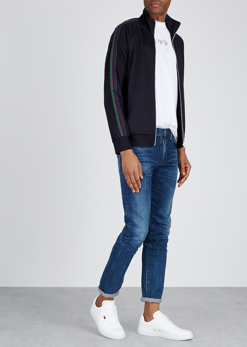 Navy cotton-blend sweatshirt - Paul Smith