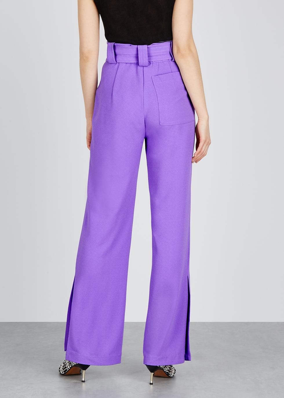Elisa purple crepe trousers - Hofmann