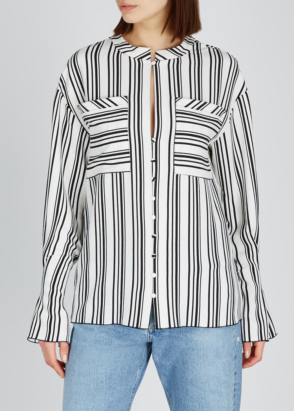 Celina striped stretch-crepe blouse - Hofmann