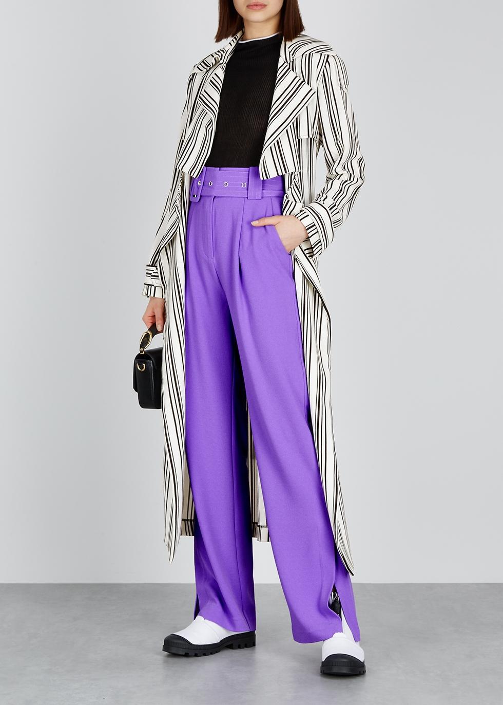 Marielle monochrome crepe trench coat - Hofmann