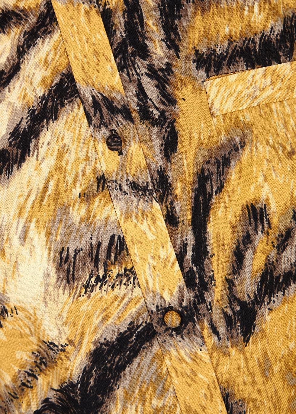 Gabriela tiger-print midi shirt dress - Hofmann