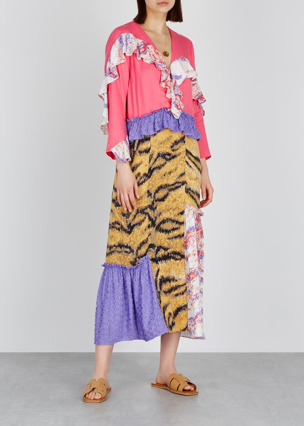 Elinore printed ruffle-trimmed midi dress - Hofmann