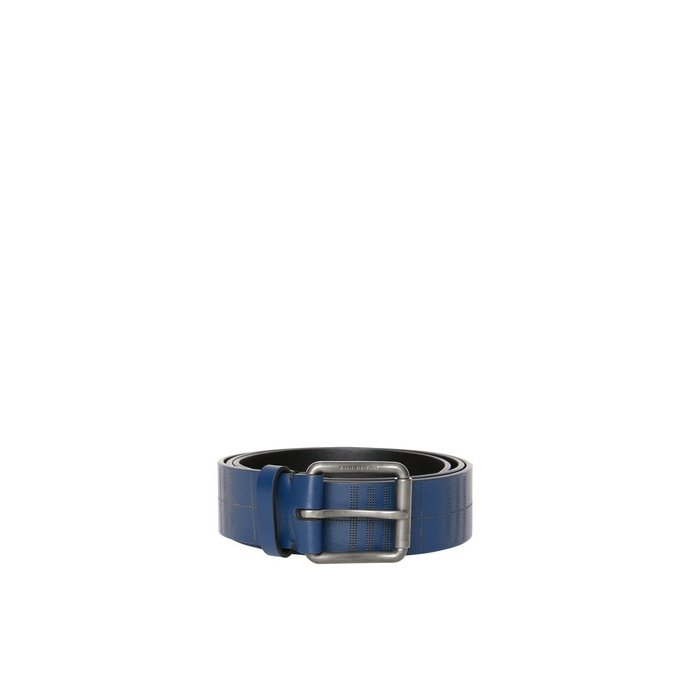Burberry Perforated Check Leather Belt