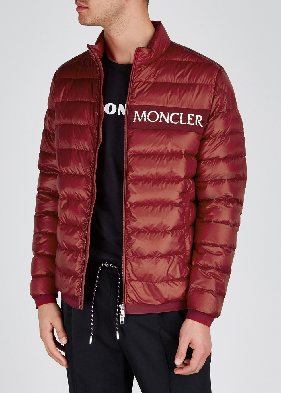Neveu red quilted shell jacket