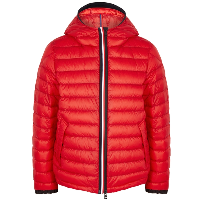 Moncler Morvan Red Quilted Shell Jacket