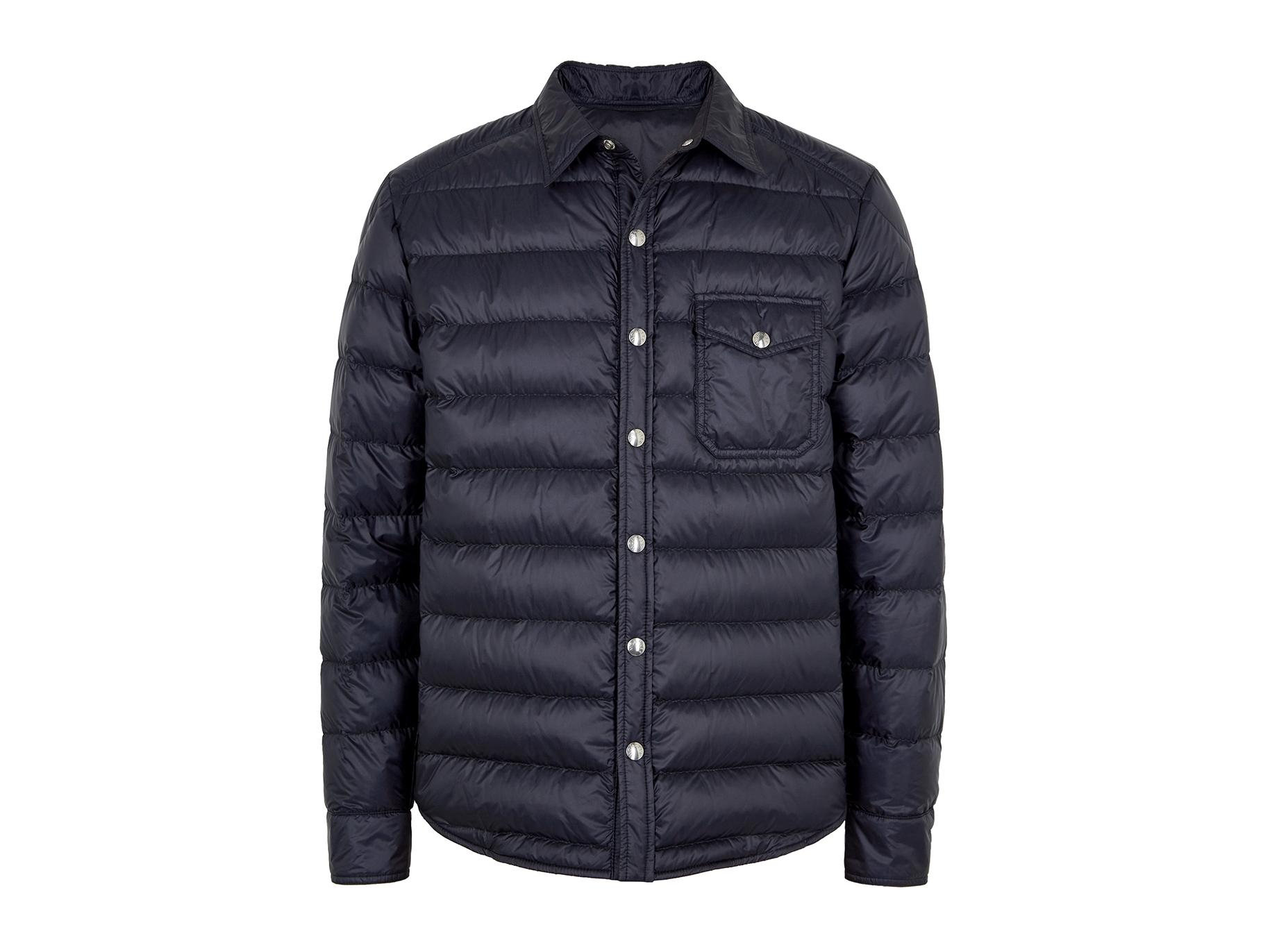 e16c66457ef3 Moncler Alancourt navy quilted shell jacket - Harvey Nichols