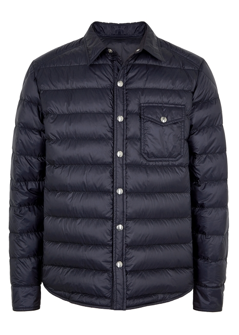 b8a1228a4f4e Moncler Alancourt navy quilted shell jacket - Harvey Nichols