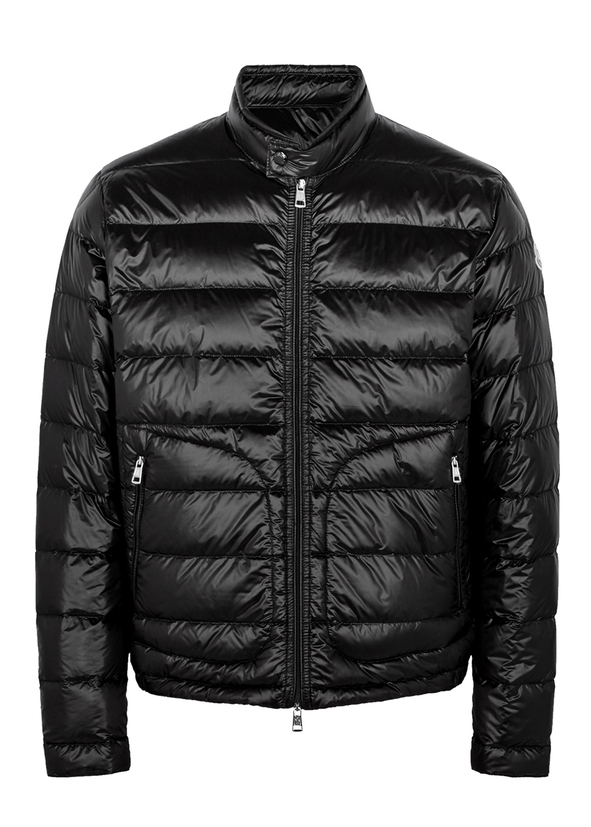 Acorus black quilted shell jacket ... c51a6937db