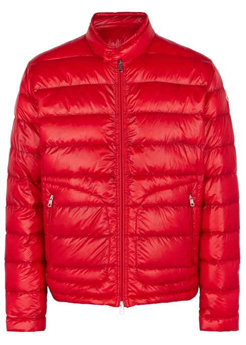 a0c374b45 Moncler Acorus red quilted shell jacket - Harvey Nichols