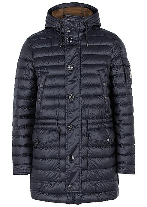 bfb9e0ba6 Moncler Benjamin navy quilted shell jacket - Harvey Nichols