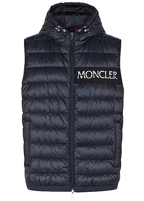 10492f348d Moncler Laruns navy quilted shell gilet - Harvey Nichols