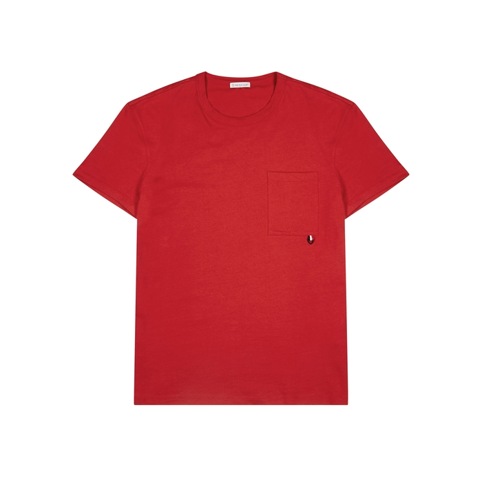 Moncler Red Cotton T-shirt