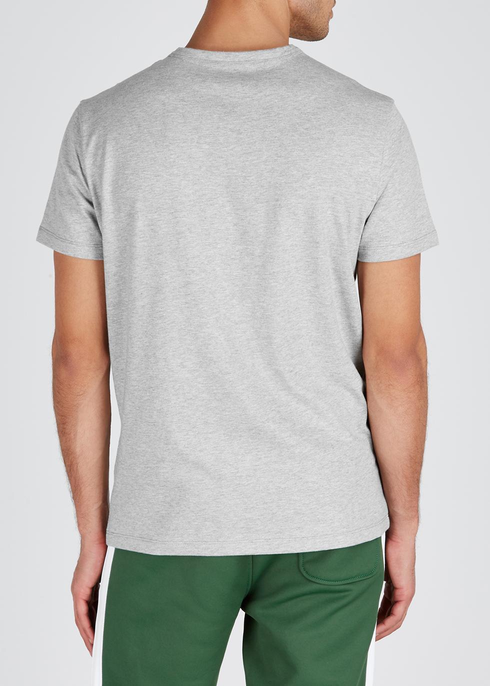 Grey printed cotton T-shirt - Moncler