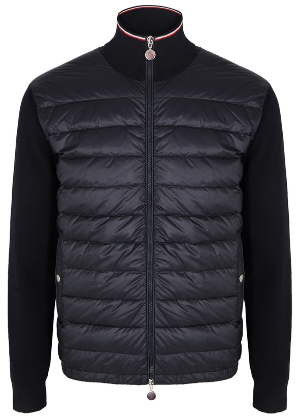 f5a70e3d17 Navy panelled shell and cotton jacket ...
