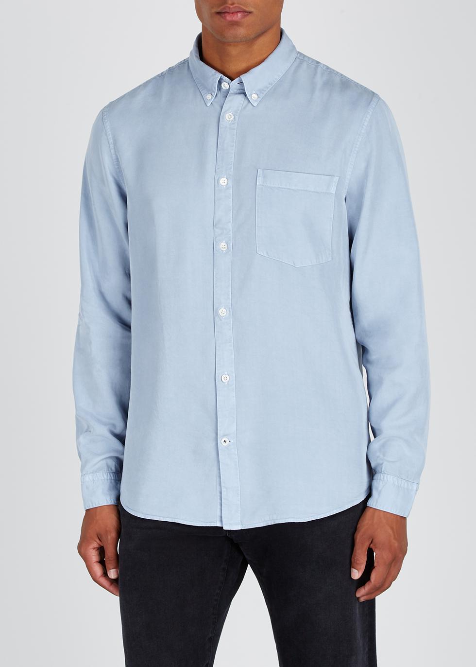 Falk blue Tencel shirt - NN07
