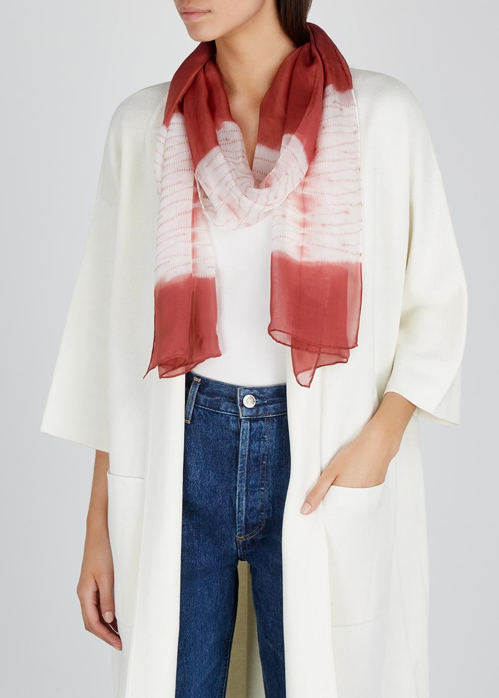 Rose tie-dye silk scarf - EILEEN FISHER