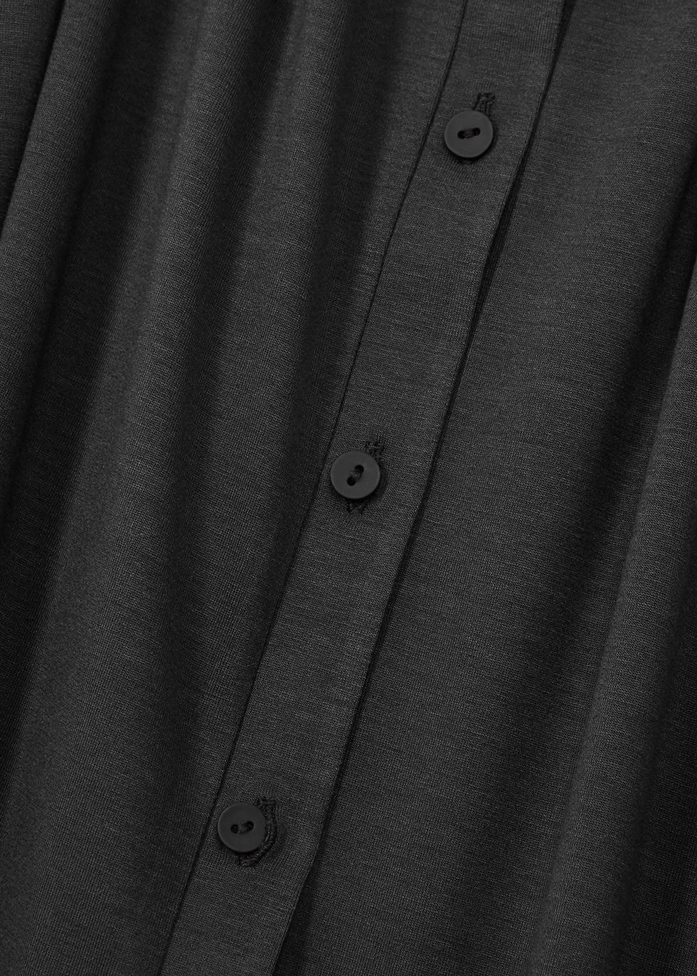 Dark grey jersey cardigan - EILEEN FISHER