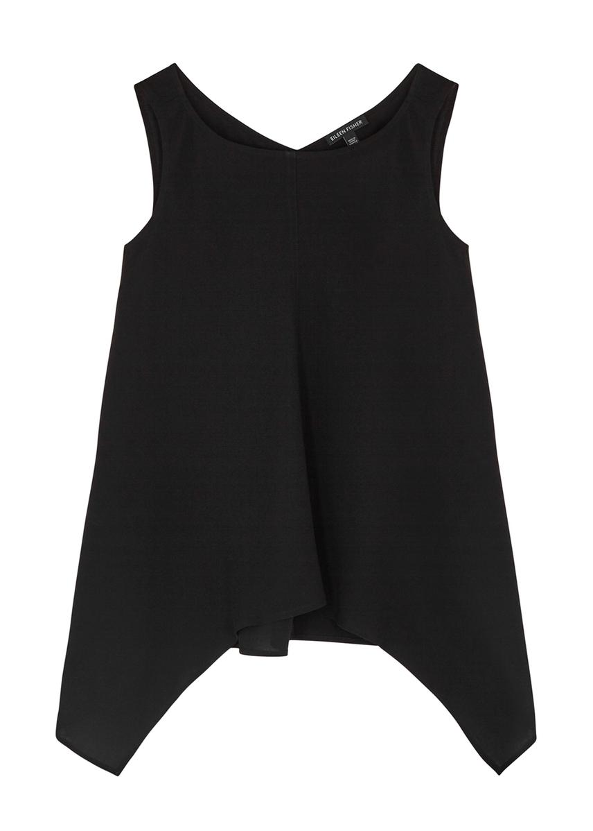 684b0897cd EILEEN FISHER. Black linen-blend cardigan. £390.00 · Black draped silk  chiffon top ...