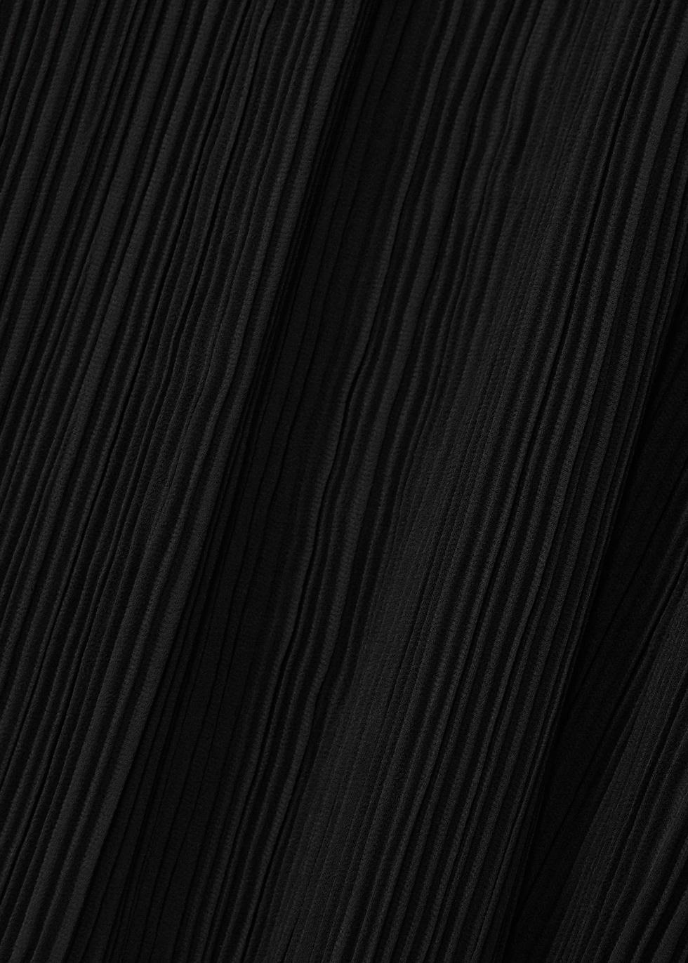 Black plissé chiffon cardigan - EILEEN FISHER