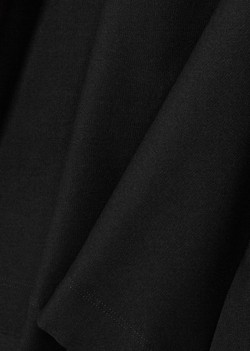 Black stretch-jersey top - EILEEN FISHER