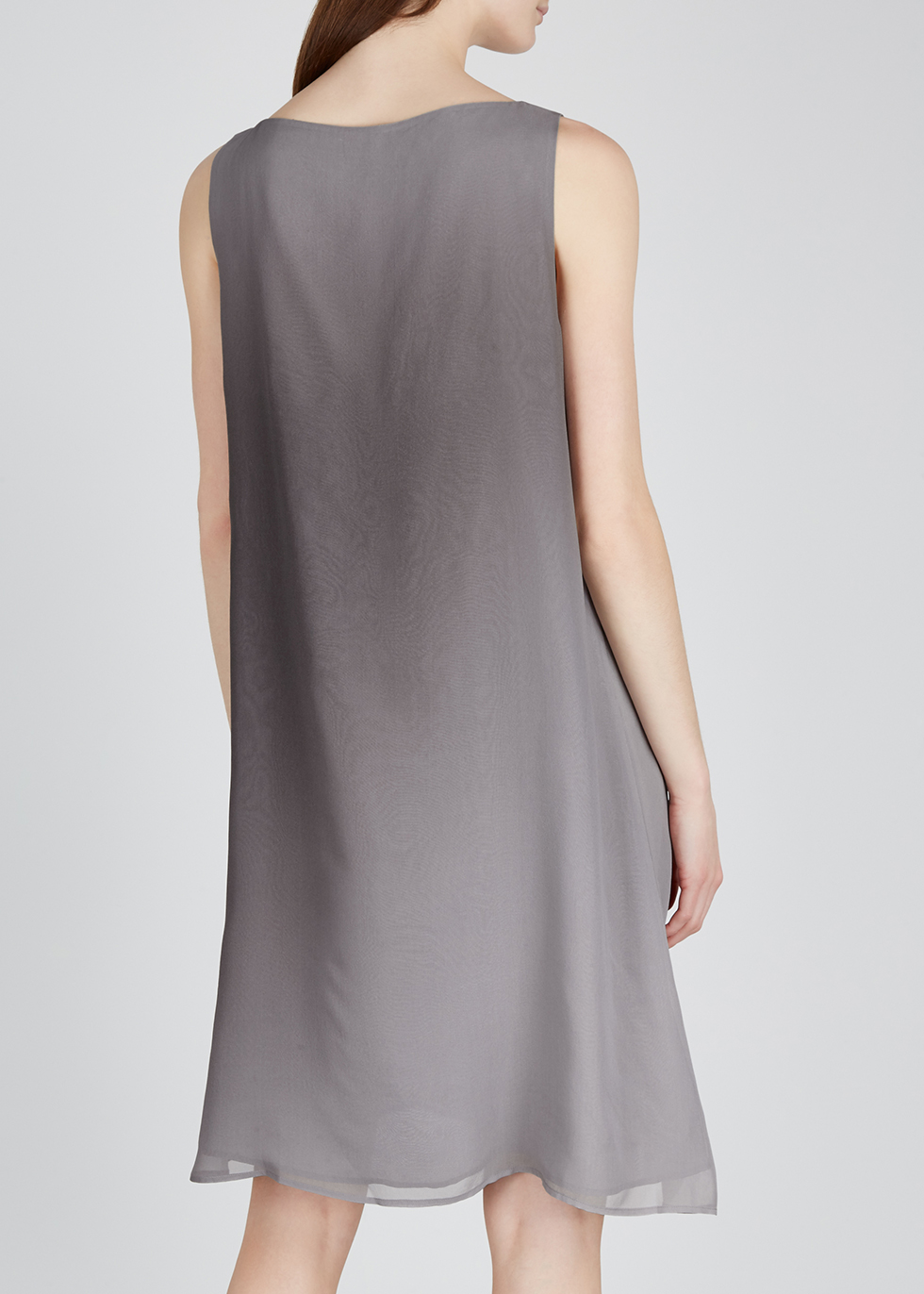 Grey dégradé silk dress - EILEEN FISHER