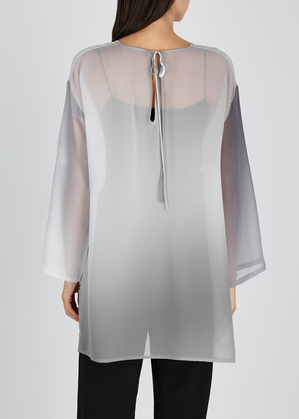 Grey dégradé silk blouse - EILEEN FISHER