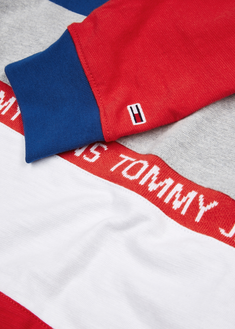 Colour-blocked cotton polo shirt - Tommy Jeans