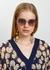 Nightbird-Two rose gold-tone sunglasses - DITA