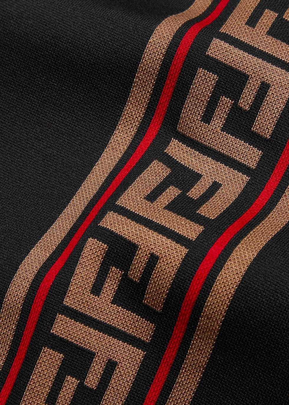 Black logo jersey sweatpants - Fendi