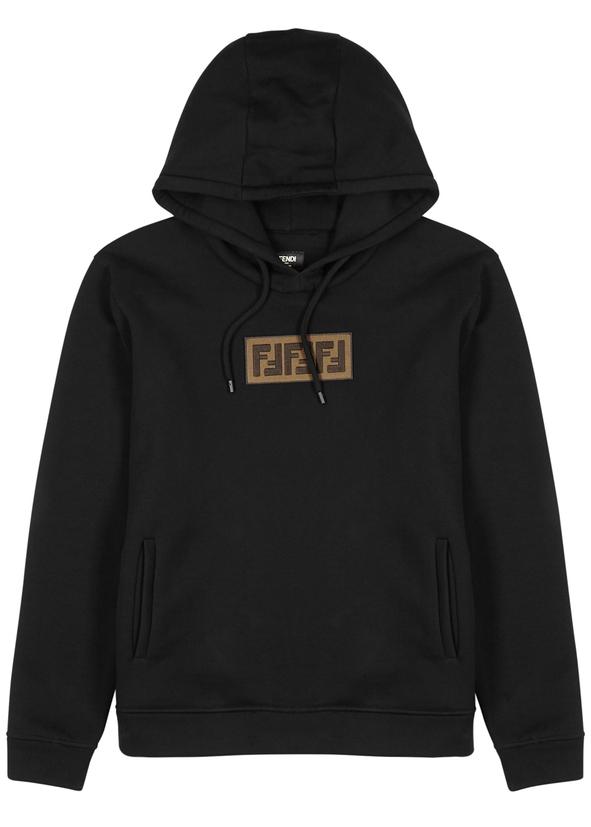 Black appliquéd cotton sweatshirt ... 07dbc44bfff