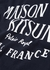 Navy logo-print cotton T-shirt - Maison Kitsuné