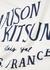White logo-print cotton T-shirt - Maison Kitsuné
