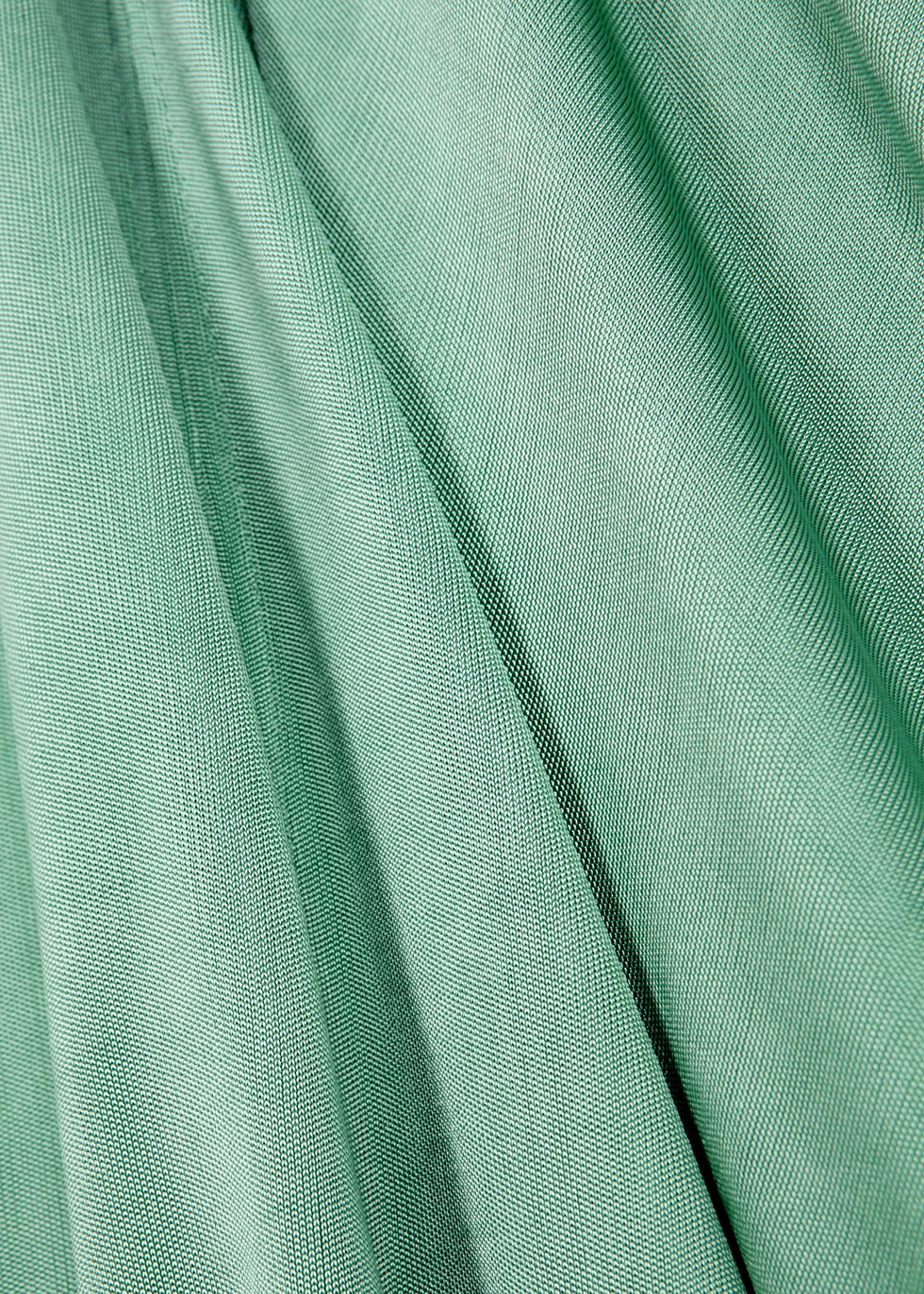 Mint satin-jersey midi skirt - Acne Studios