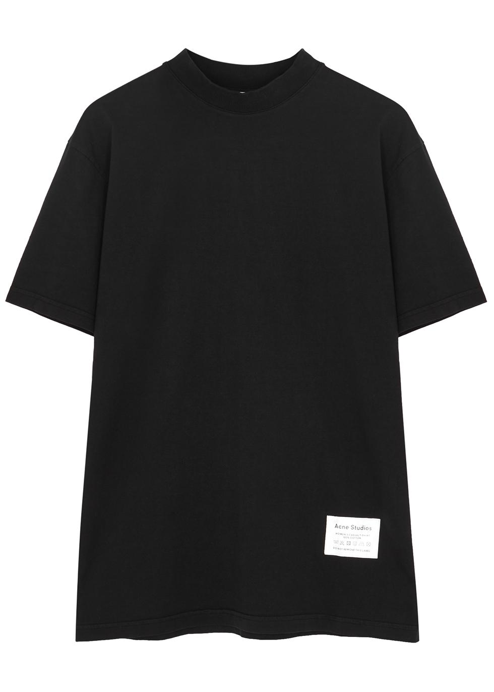 Black cotton T-shirt - Acne Studios