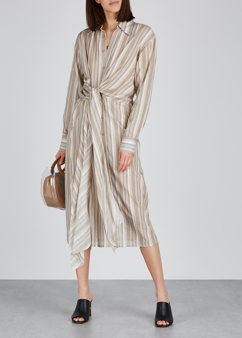 Striped cotton shirt dress - Acne Studios