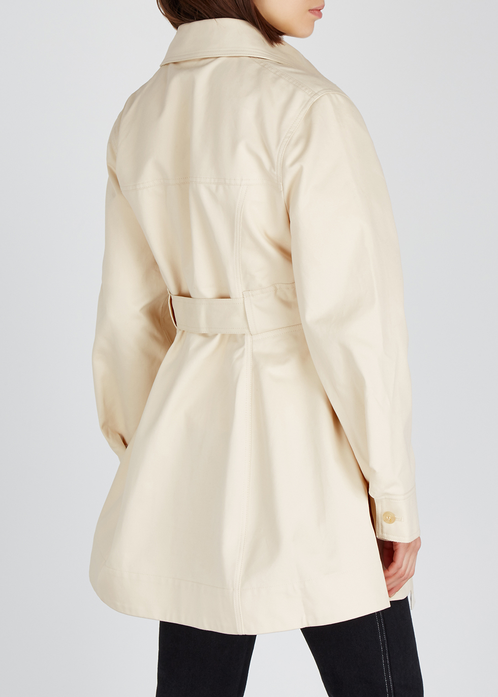 Ivory belted cotton-twill jacket - Acne Studios
