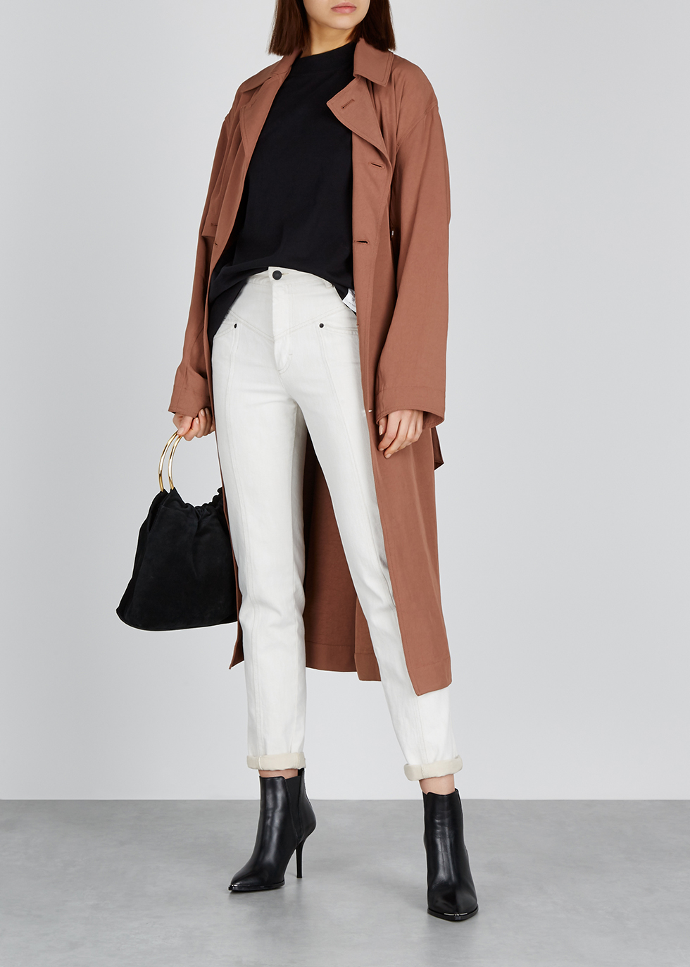 Olicia rust twill trench coat - Acne Studios