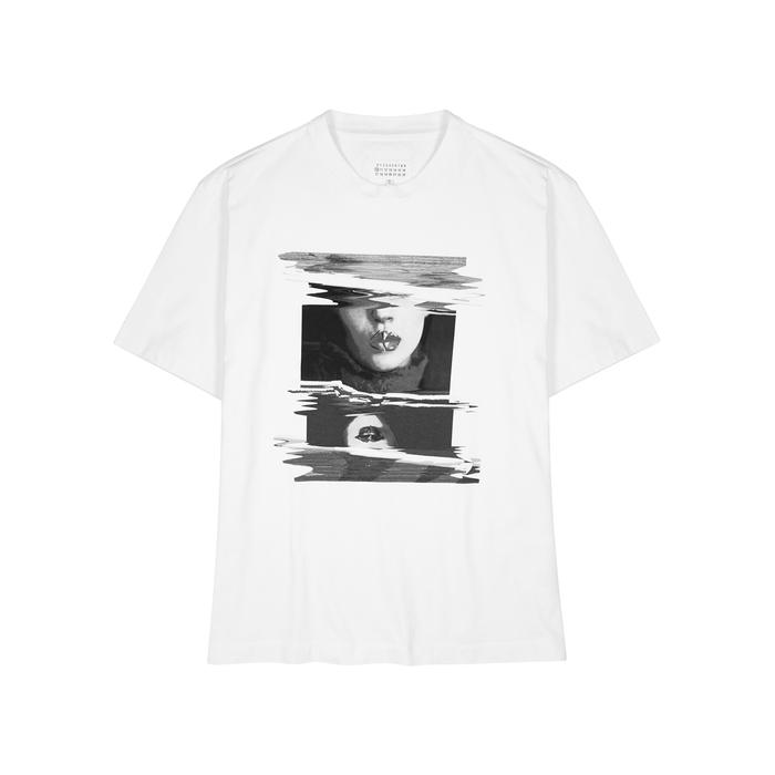 Maison Margiela Printed Oversized Cotton T-shirt