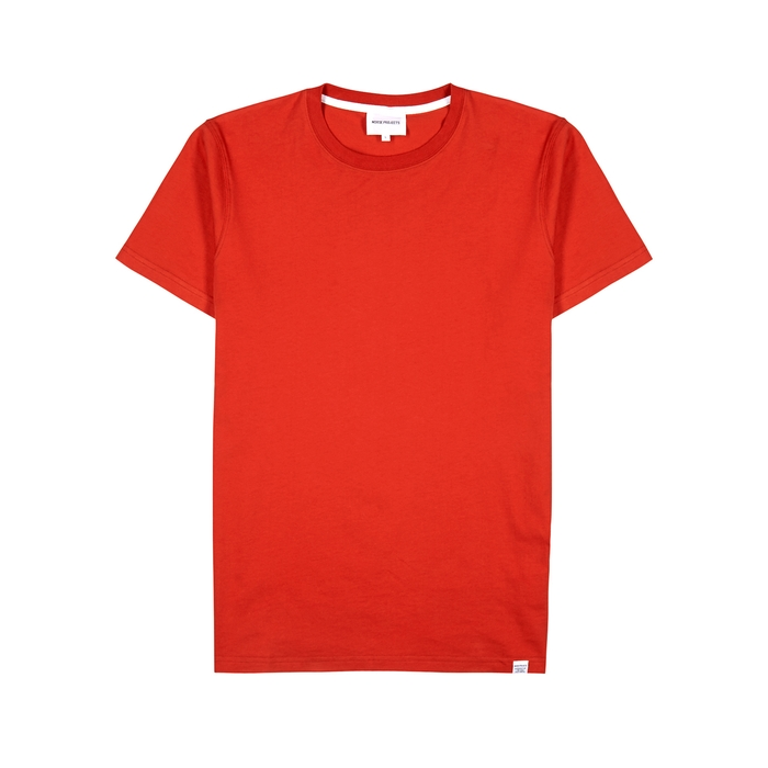 Norse Projects T-shirts NEILS RED COTTON T-SHIRT
