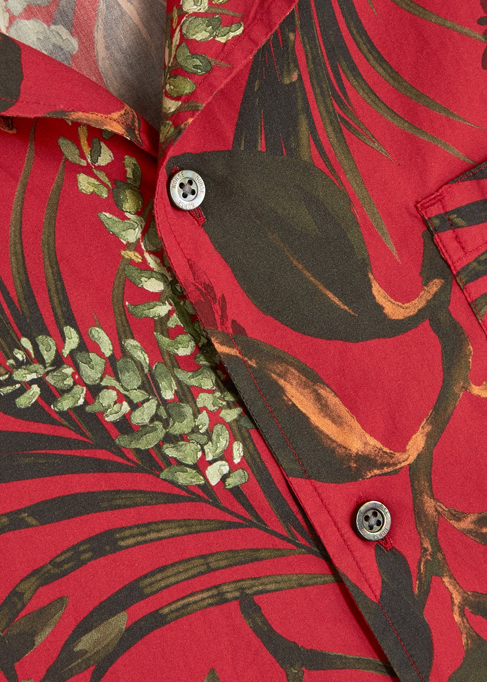 Red printed cotton shirt - Norse Projects