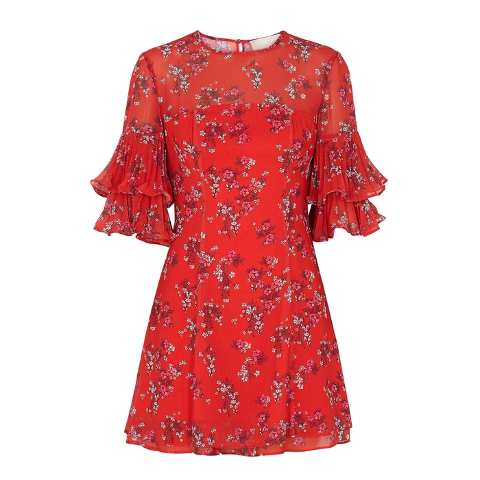 Keepsake HEART AND SOUL FLORAL-PRINT CHIFFON DRESS