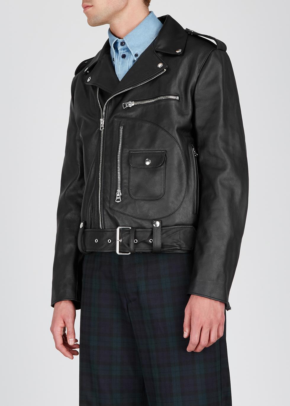 Black leather biker jacket - Acne Studios